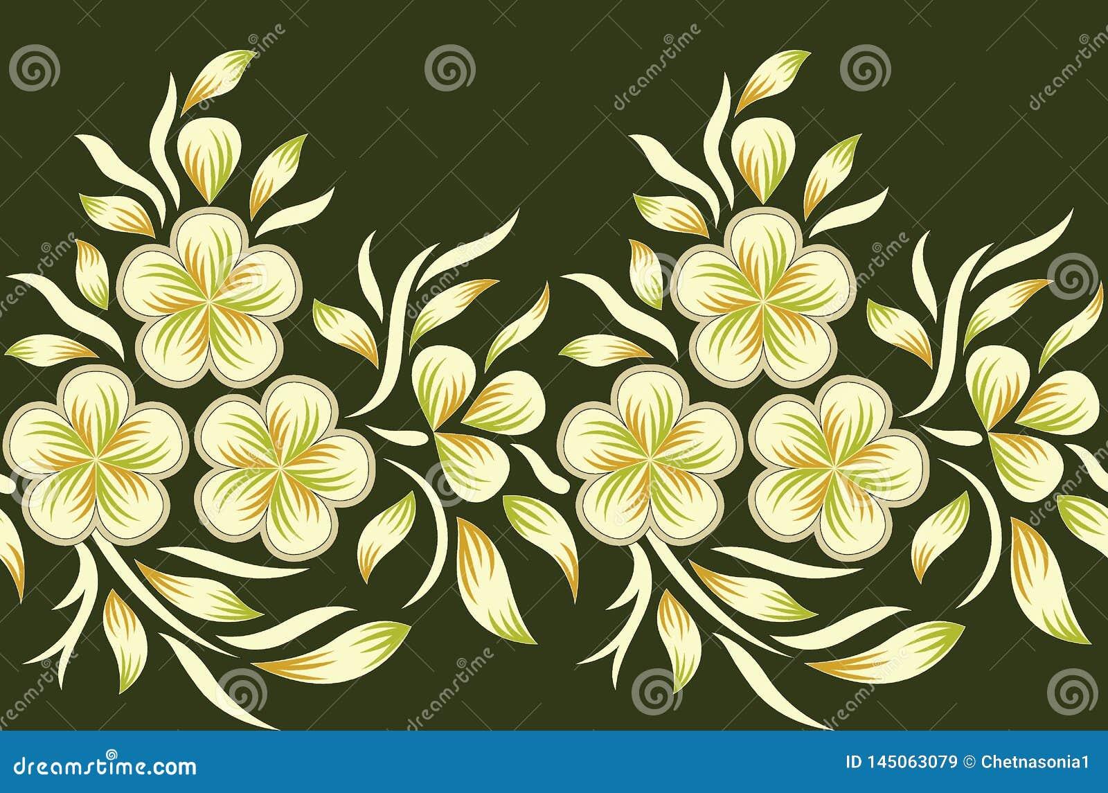 无缝的花卉边界