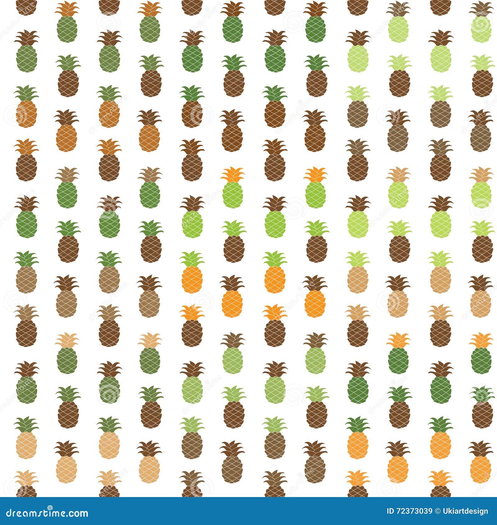 无缝的菠萝样式集合 无言调色板传染媒介例证