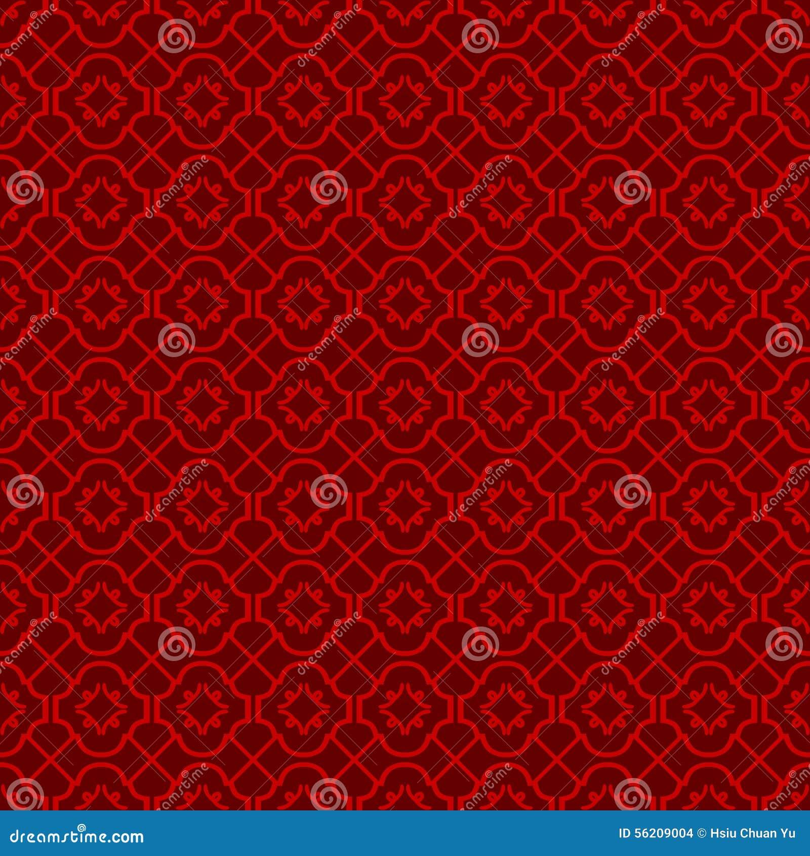 无缝的葡萄酒中国窗口网眼图案十字架线金刚石样式背景