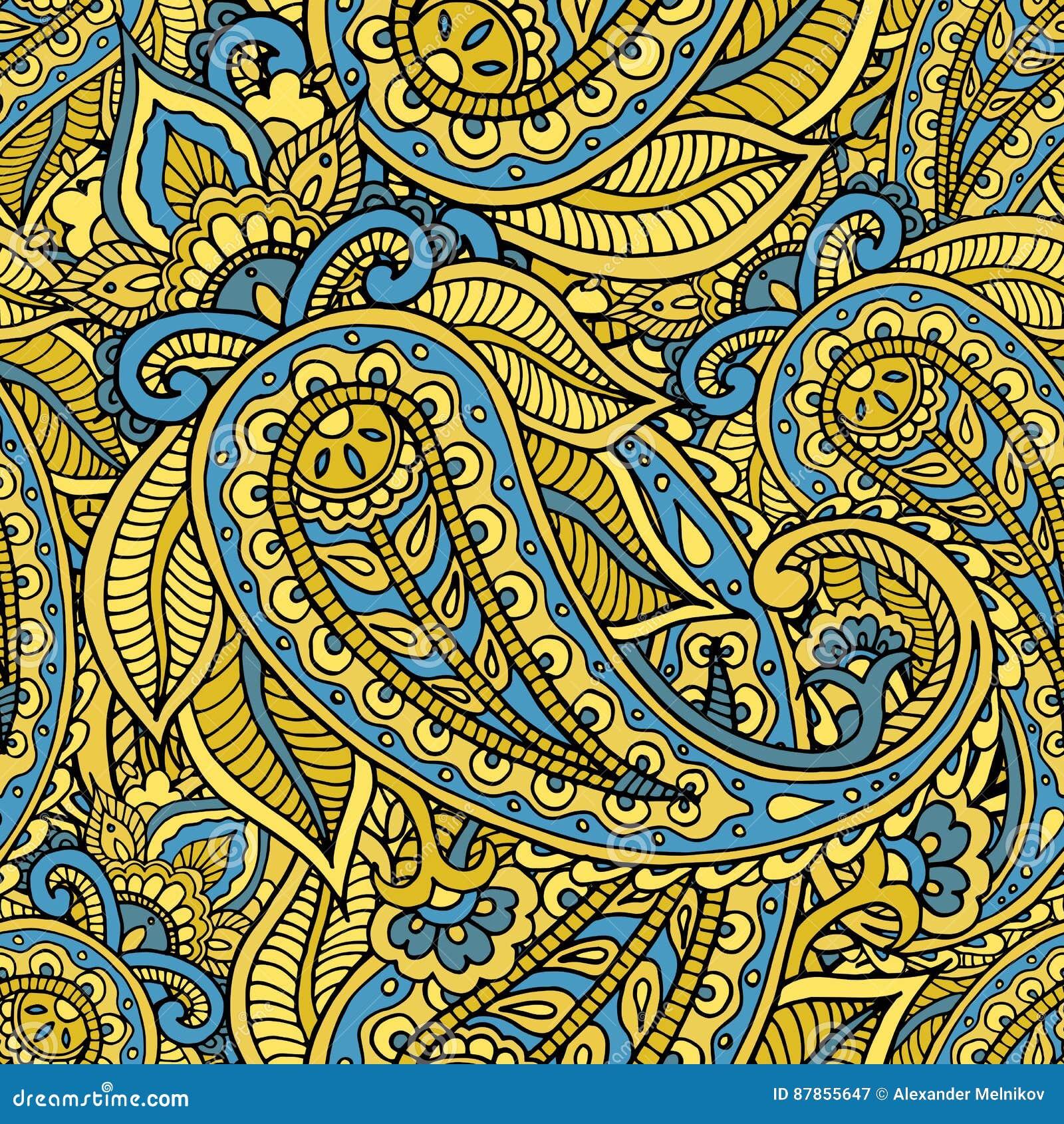 无缝的重复的样式包括的色的样式buta