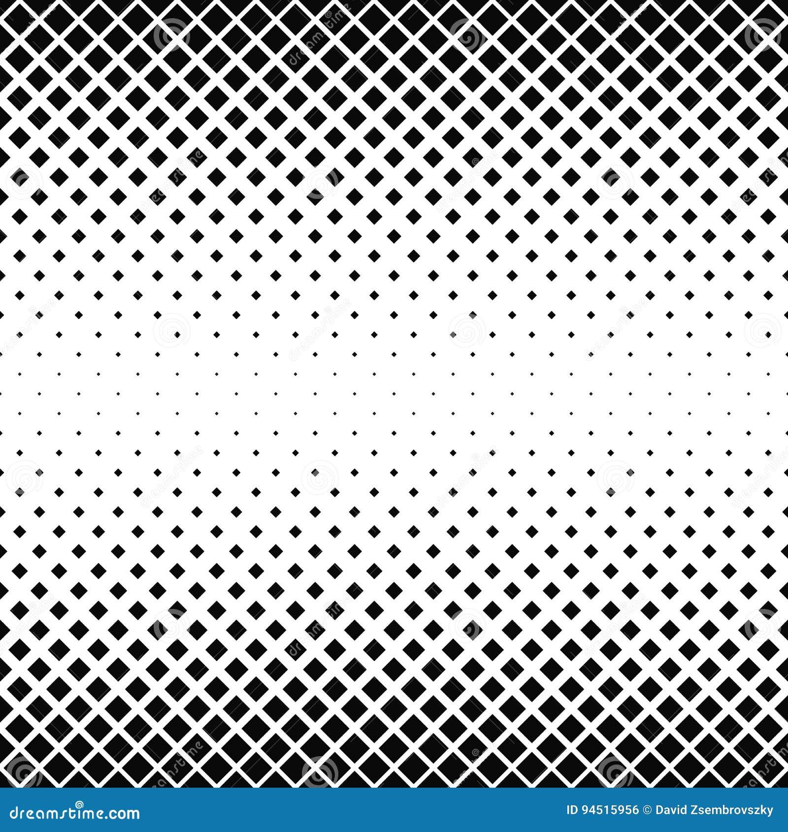 无缝的黑白方形的样式