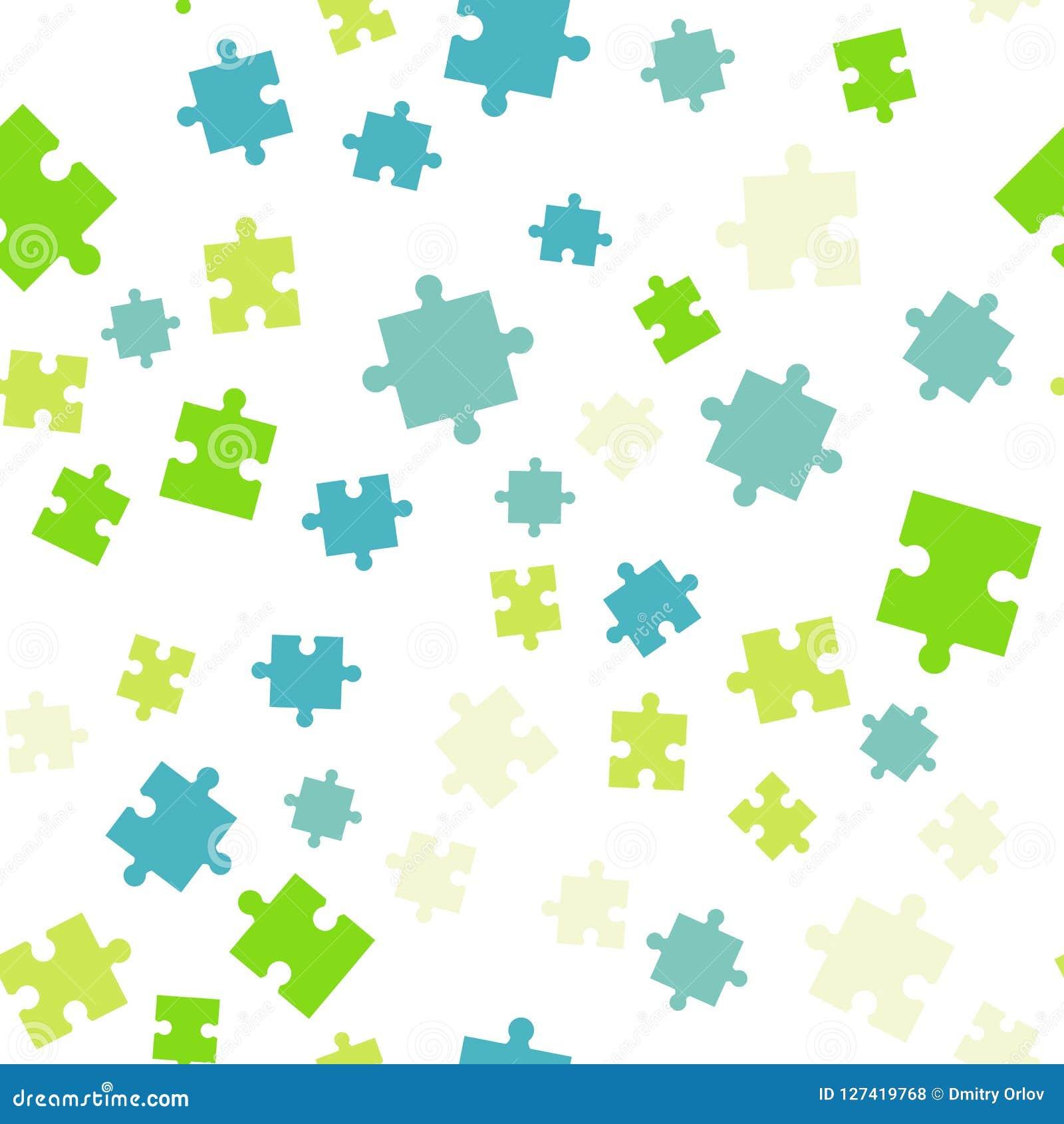 无缝背景五颜六色的模式的难题 在空白背景查出的向量例证
