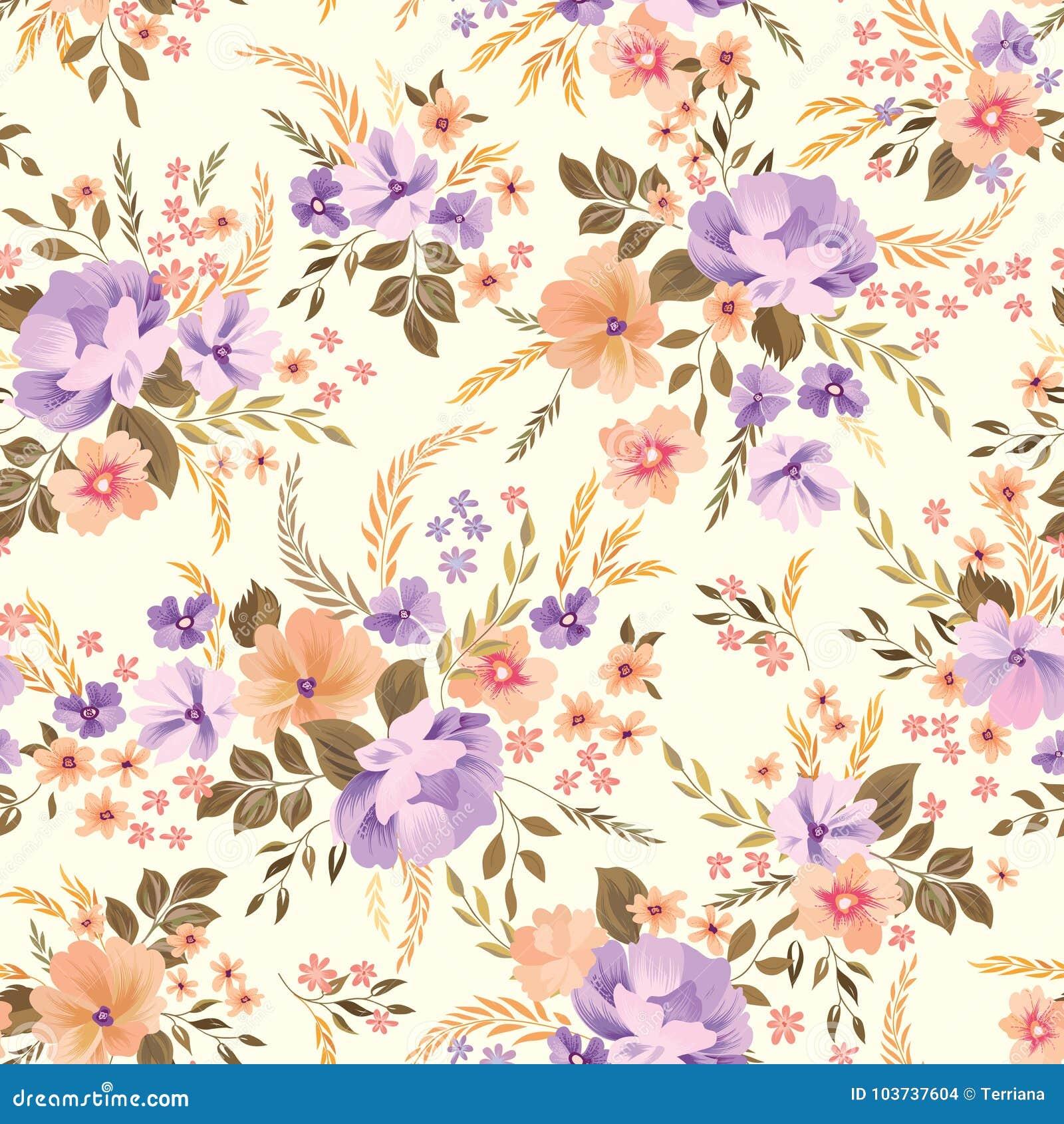 无缝花卉的模式 背景花光playnig 装饰庭院