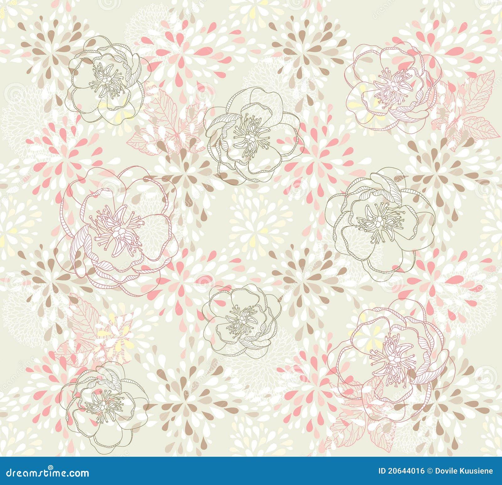 无缝逗人喜爱的花卉的模式