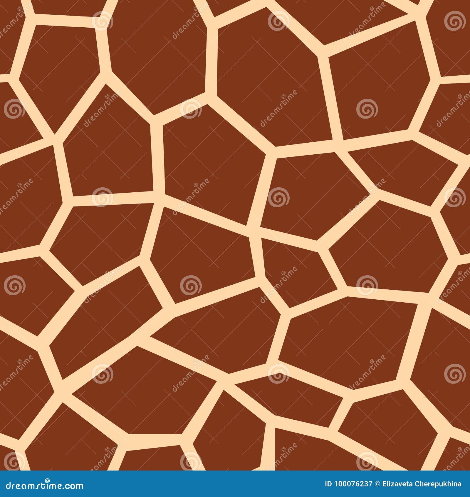 无缝长颈鹿的模式 布朗长颈鹿斑点 普遍的纹理