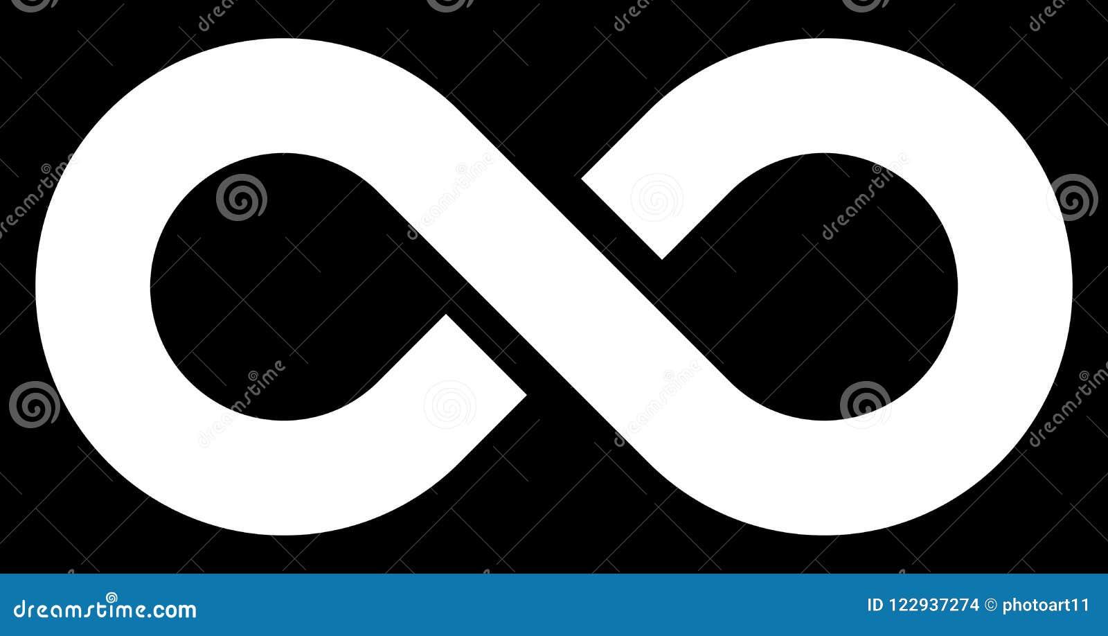 无限标志白简单与中止-被隔绝