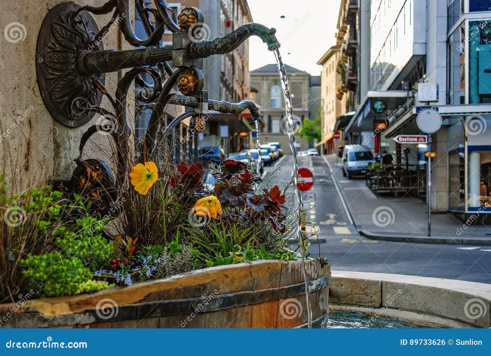 日内瓦 瑞士 日内瓦市都市风景