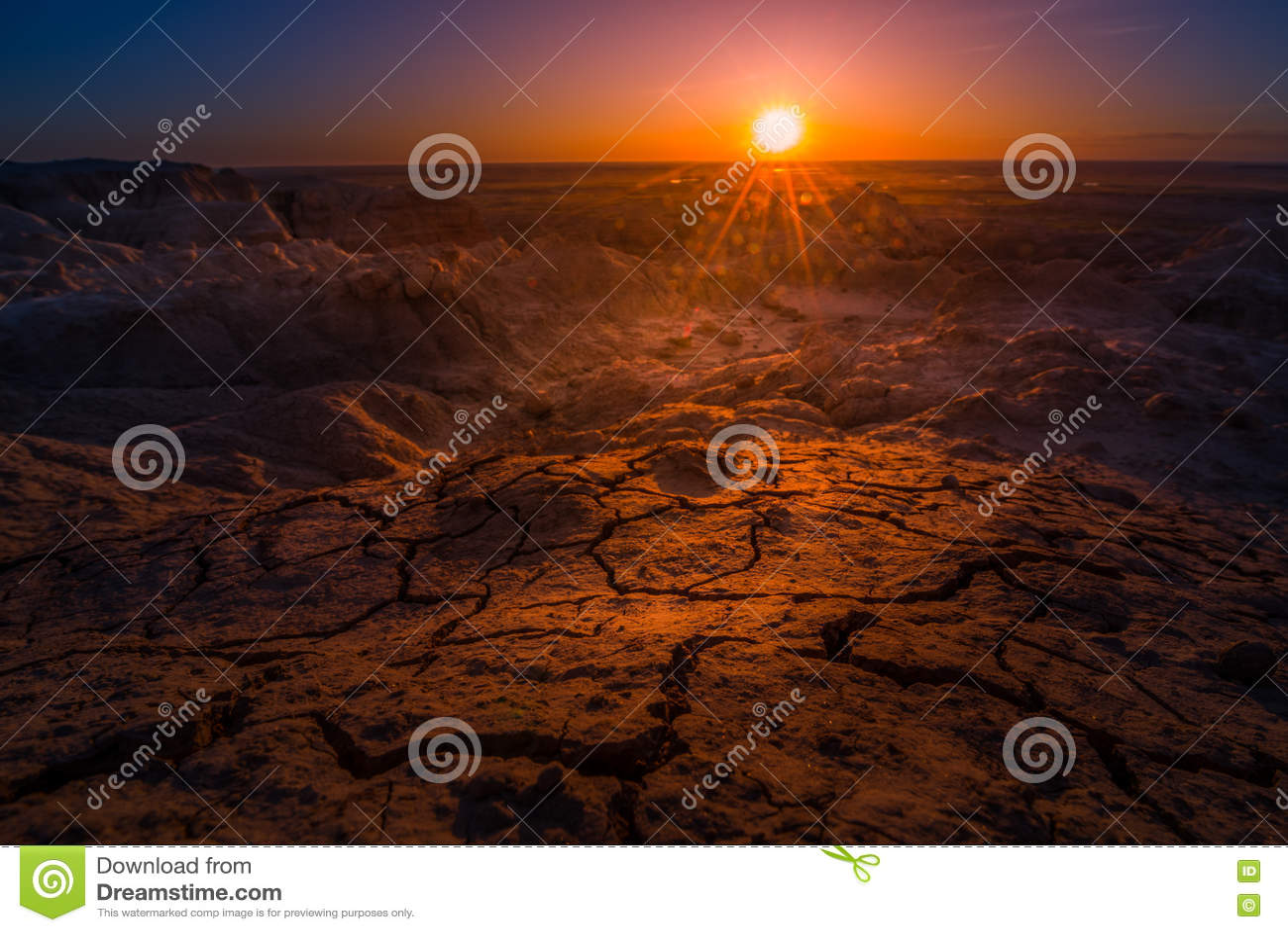 日出在恶地国家公园