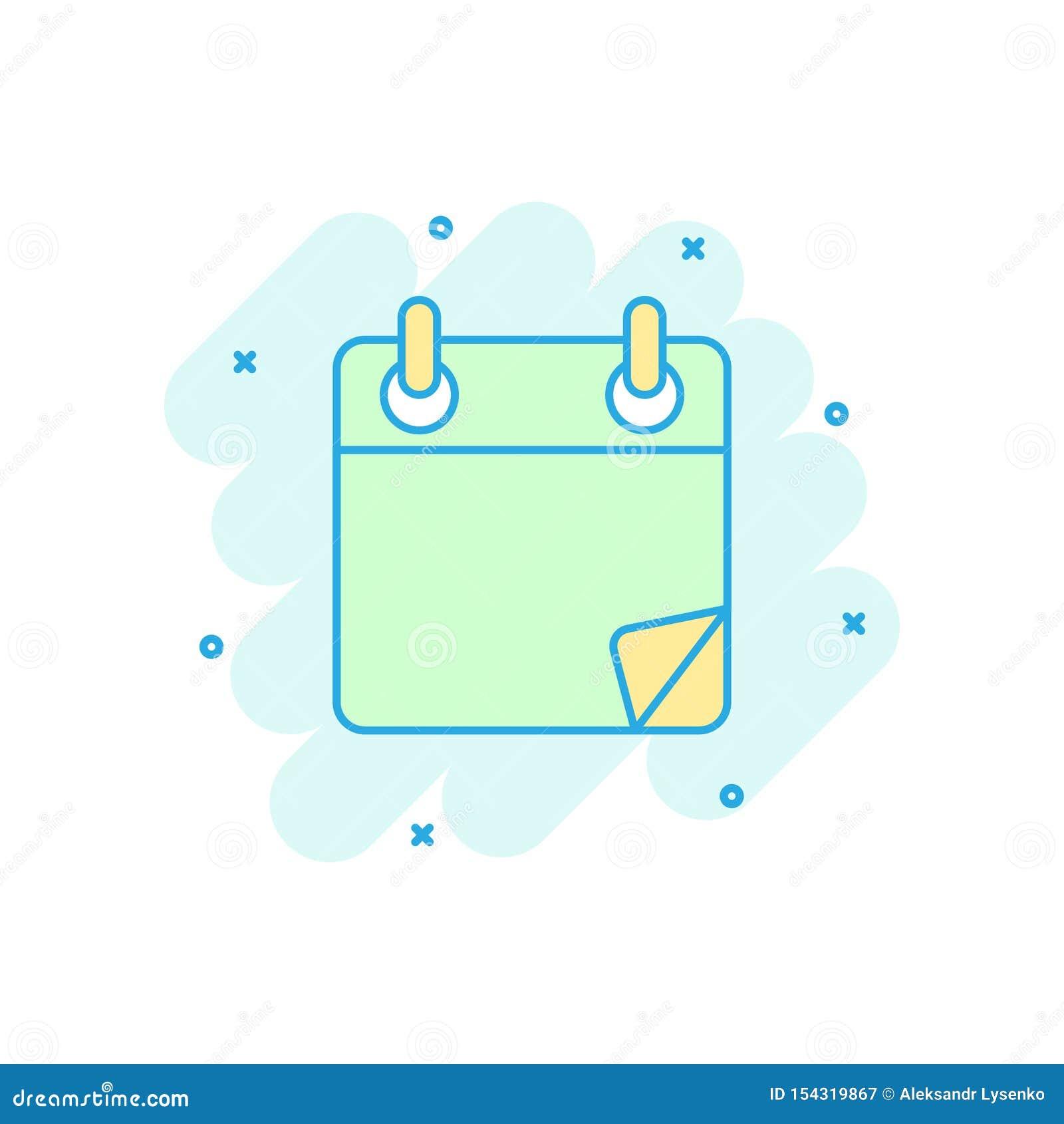 日历在可笑的样式的组织者象 任命事件传染媒介在白色被隔绝的背景的动画片例证 r
