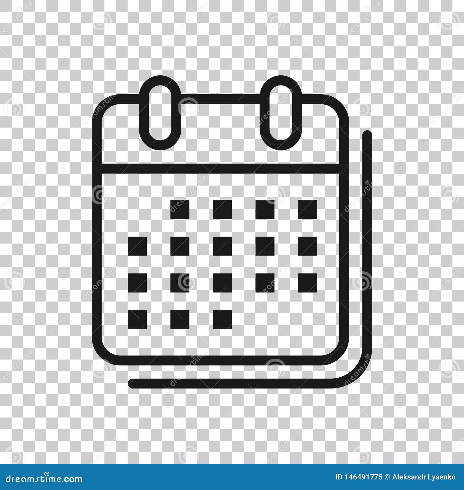 日历在透明样式的组织者象 任命事件在被隔绝的背景的传染媒介例证 月最后期限