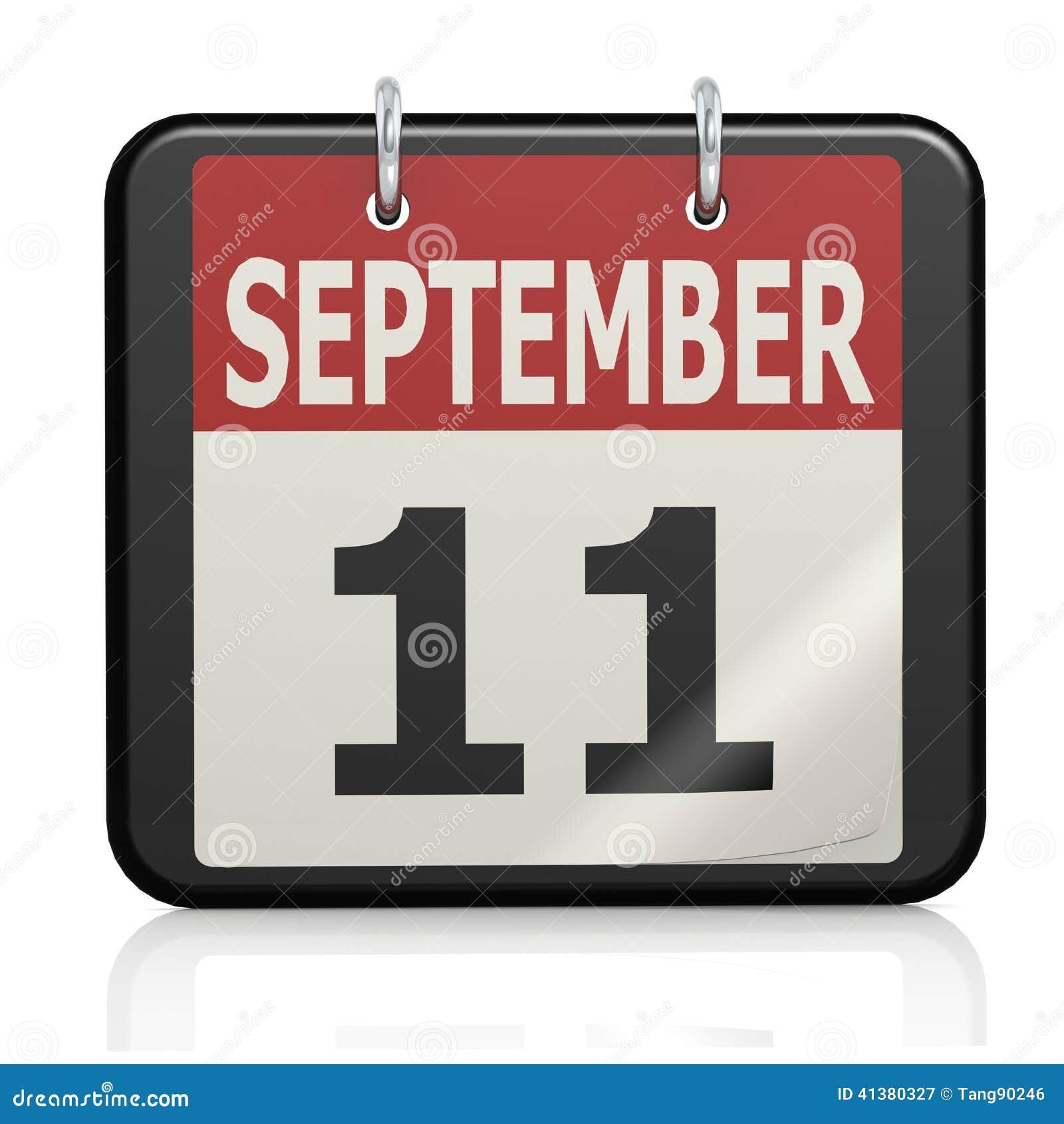 图象9月11日,爱国者天与聘用的日历回报了可能为所有图形设计使用的