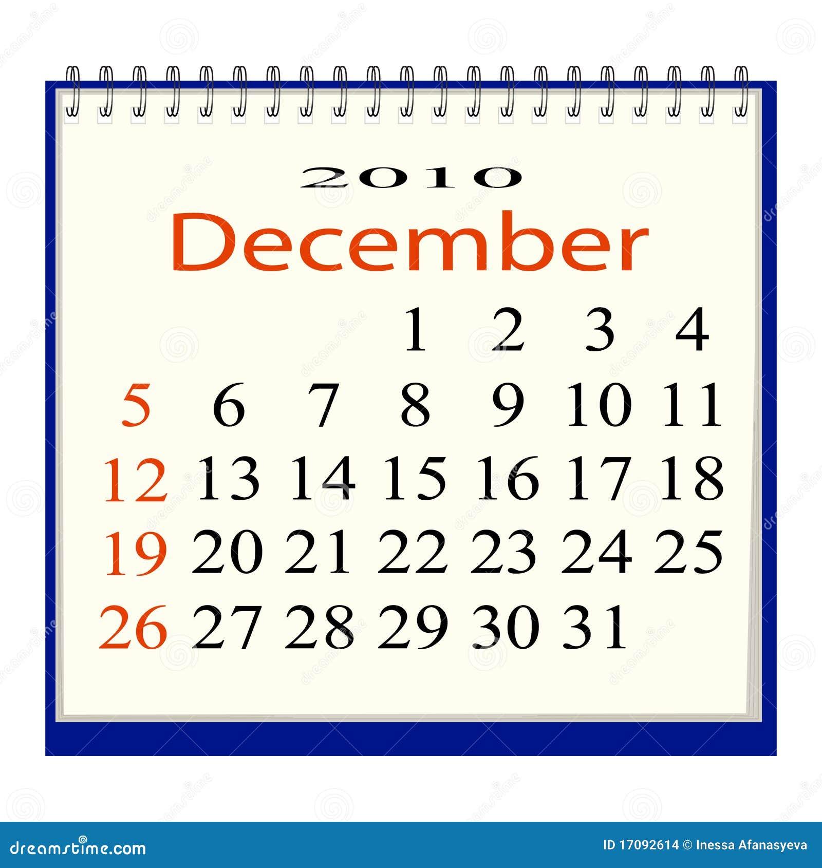 日历12月图象向量