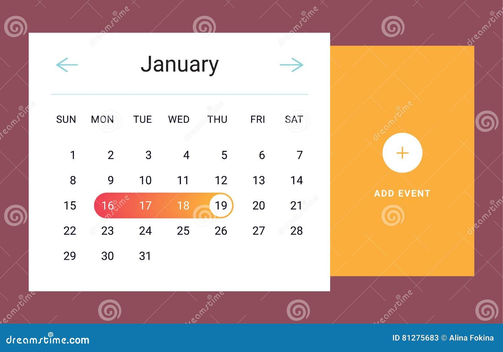 日历UI元素