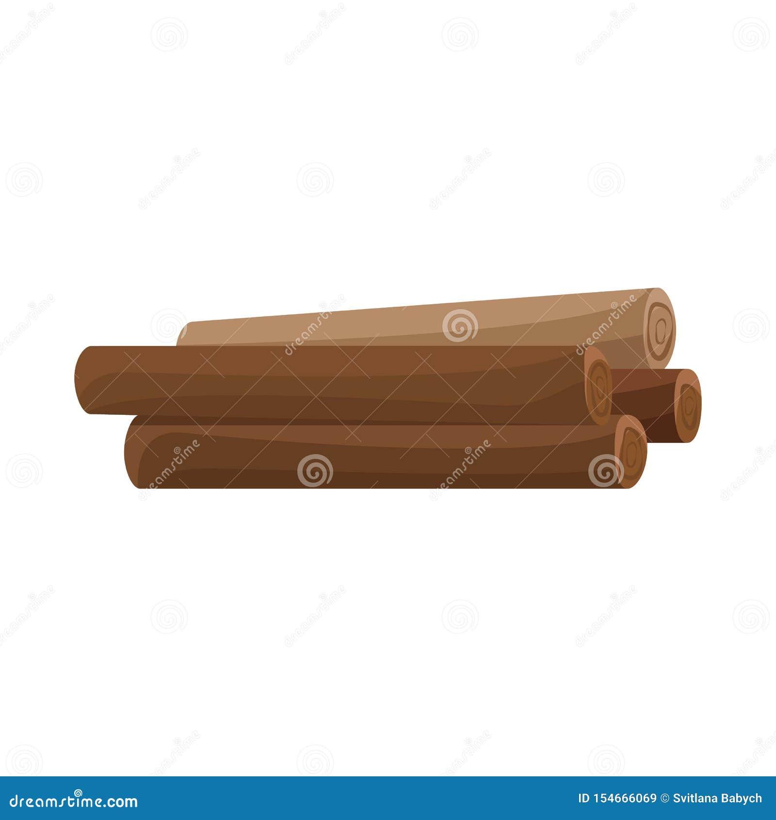 日志和橡木标志传染媒介设计  日志和被堆积的储蓄传染媒介例证的汇集