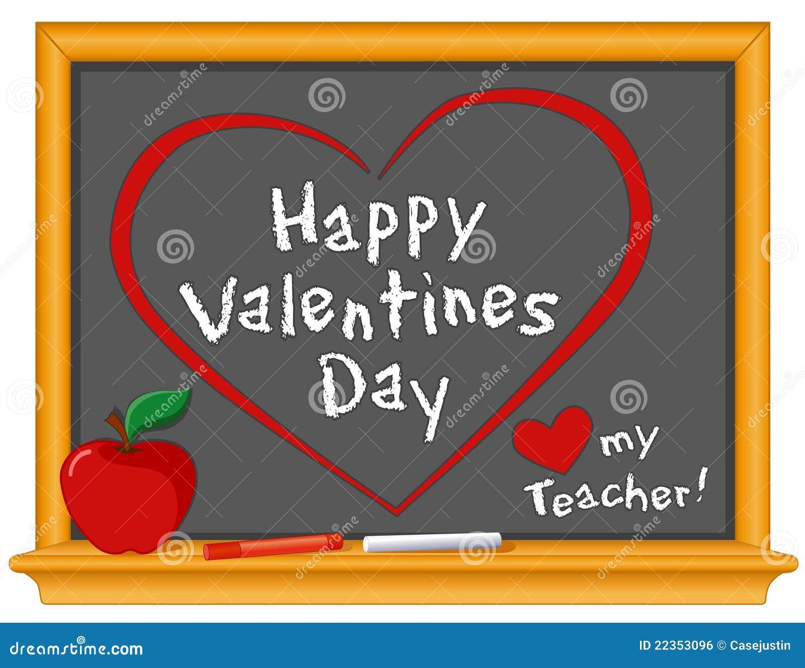 日愉快的爱我的教师华伦泰