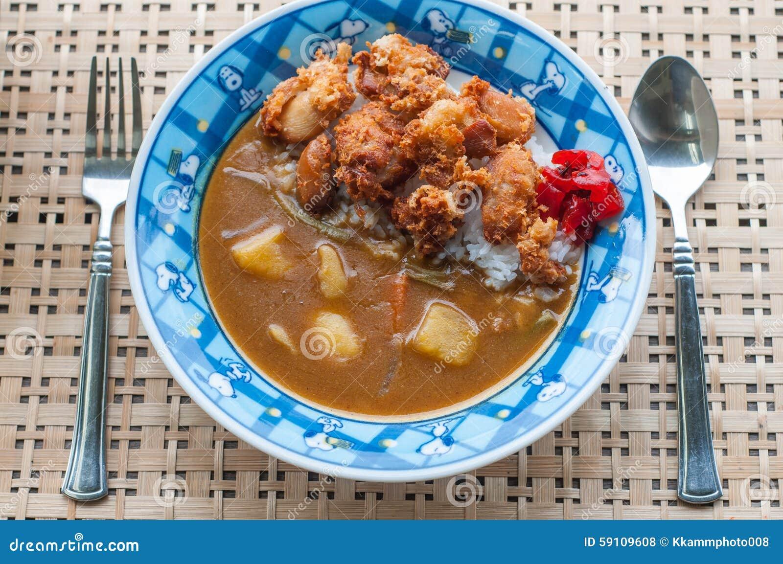 日本人的炸鸡咖喱