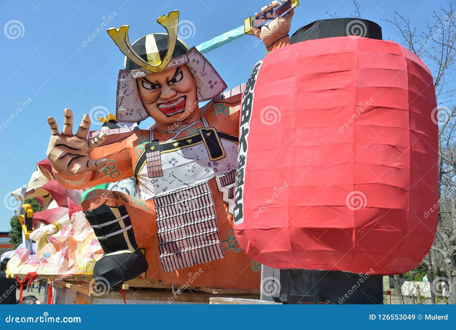 日本旅行武士节日形象行军2018年 免版税库存图片