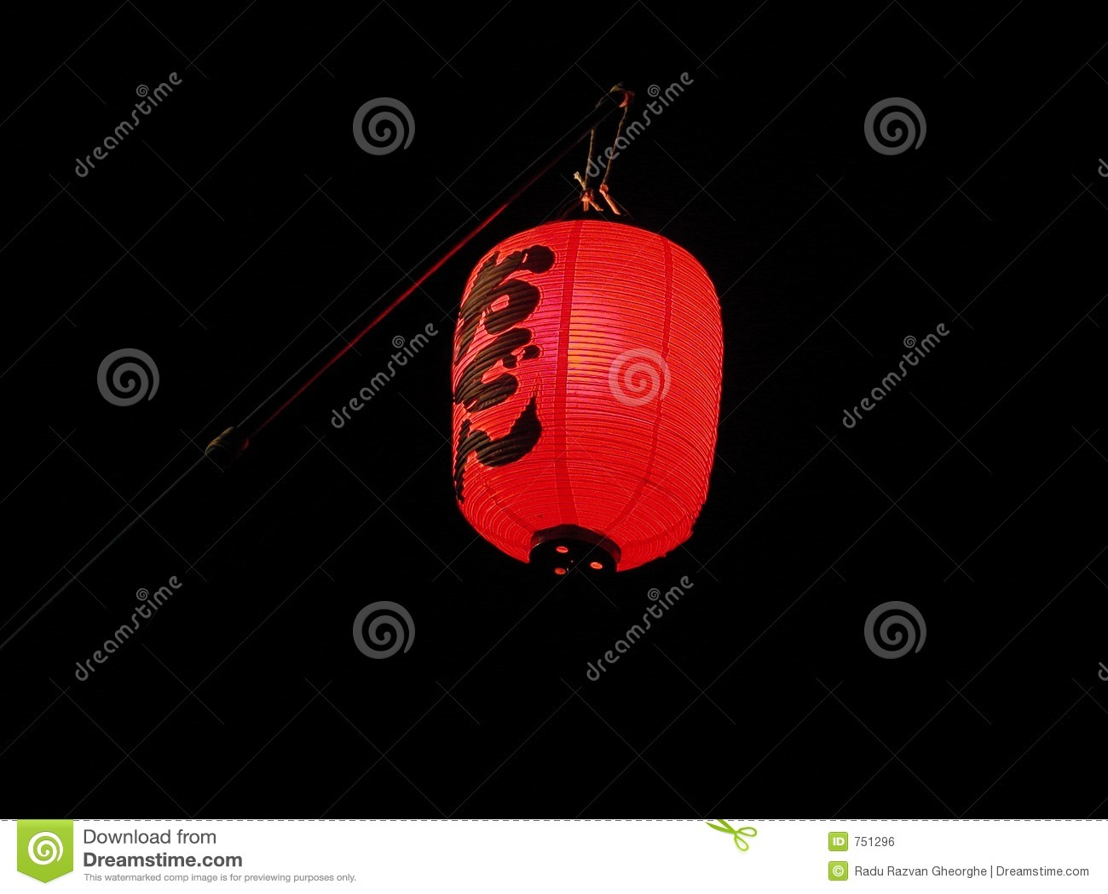 日本灯笼红色