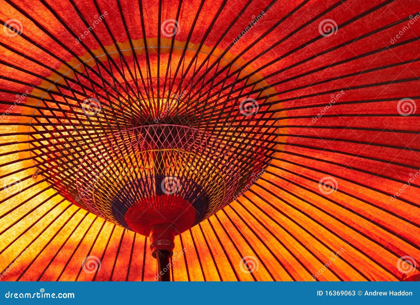 日本遮阳伞红色