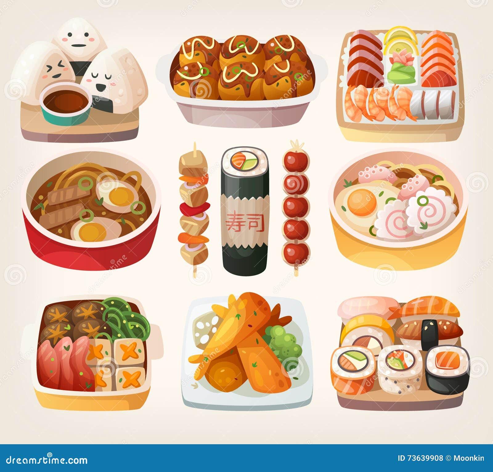 日本食物贴纸