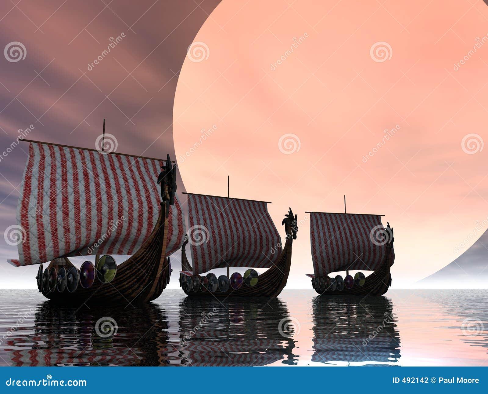 日落北欧海盗