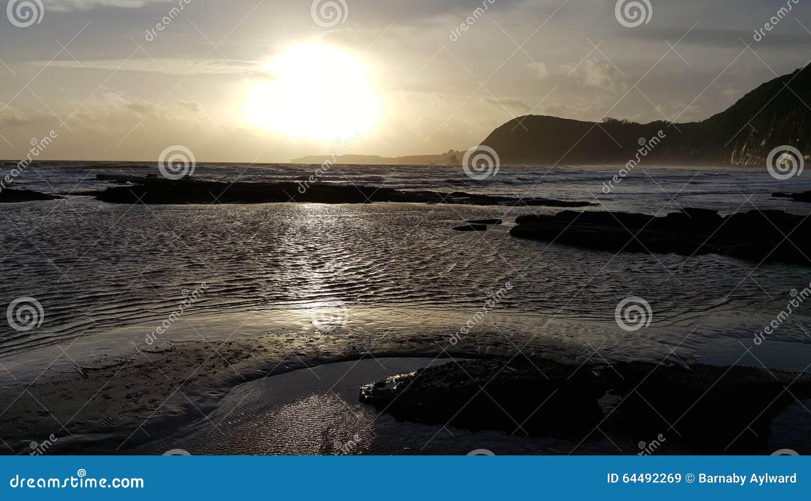日落在Sidmouth
