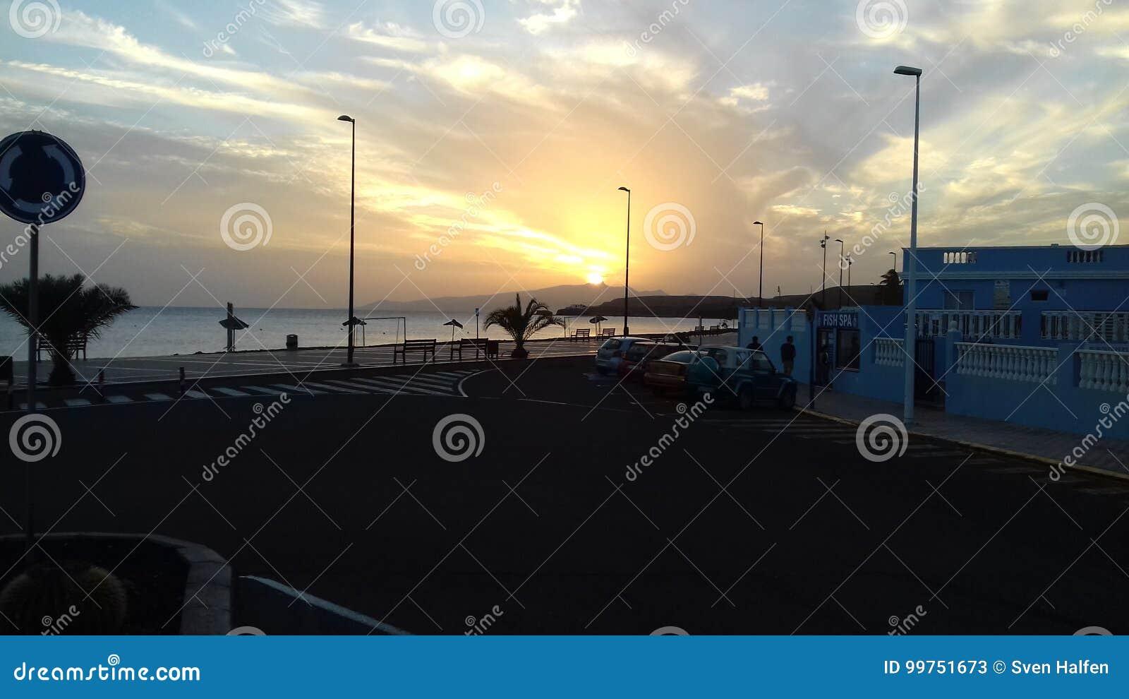 日落海滩atlantik