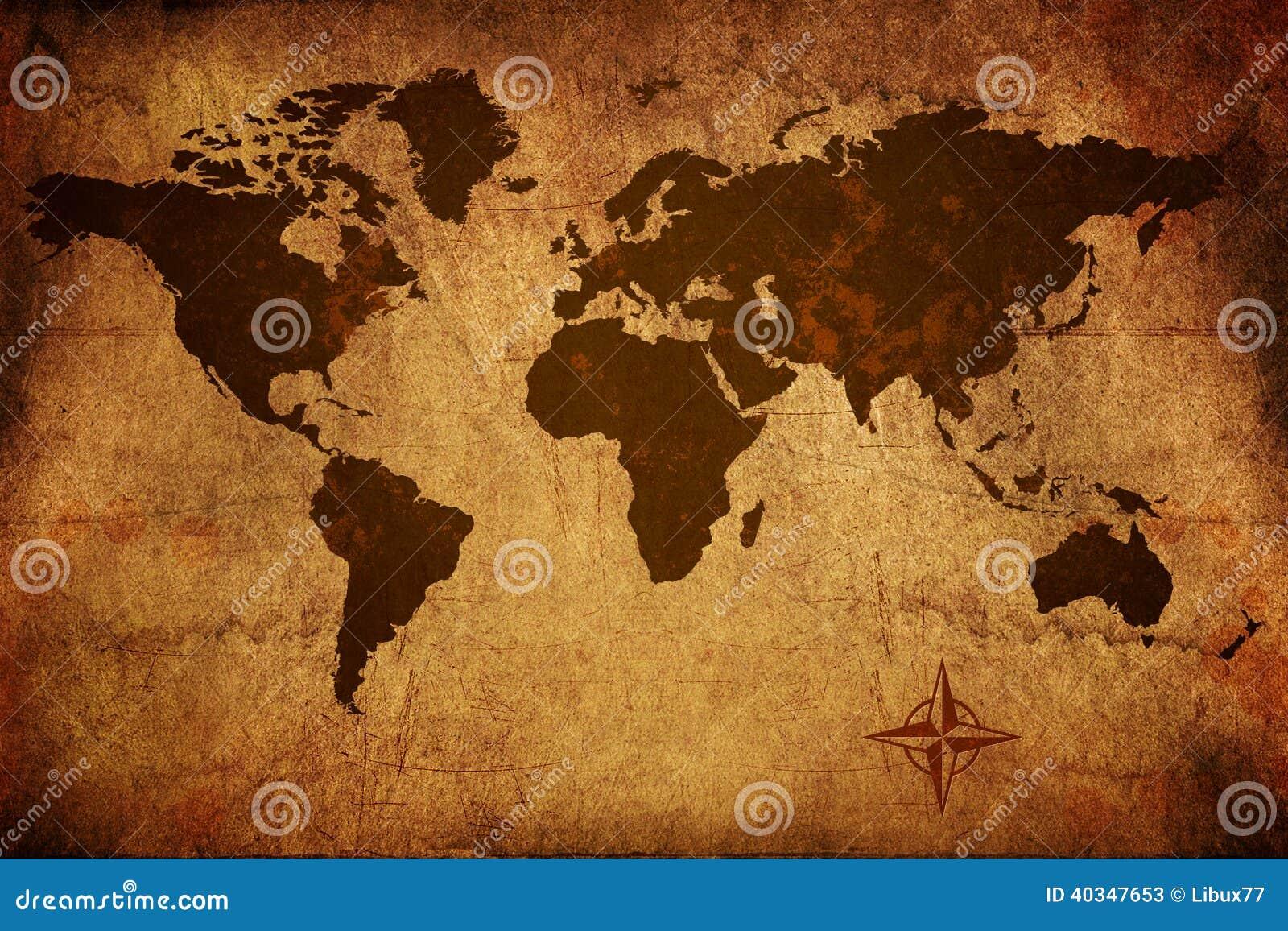 旧世界地图