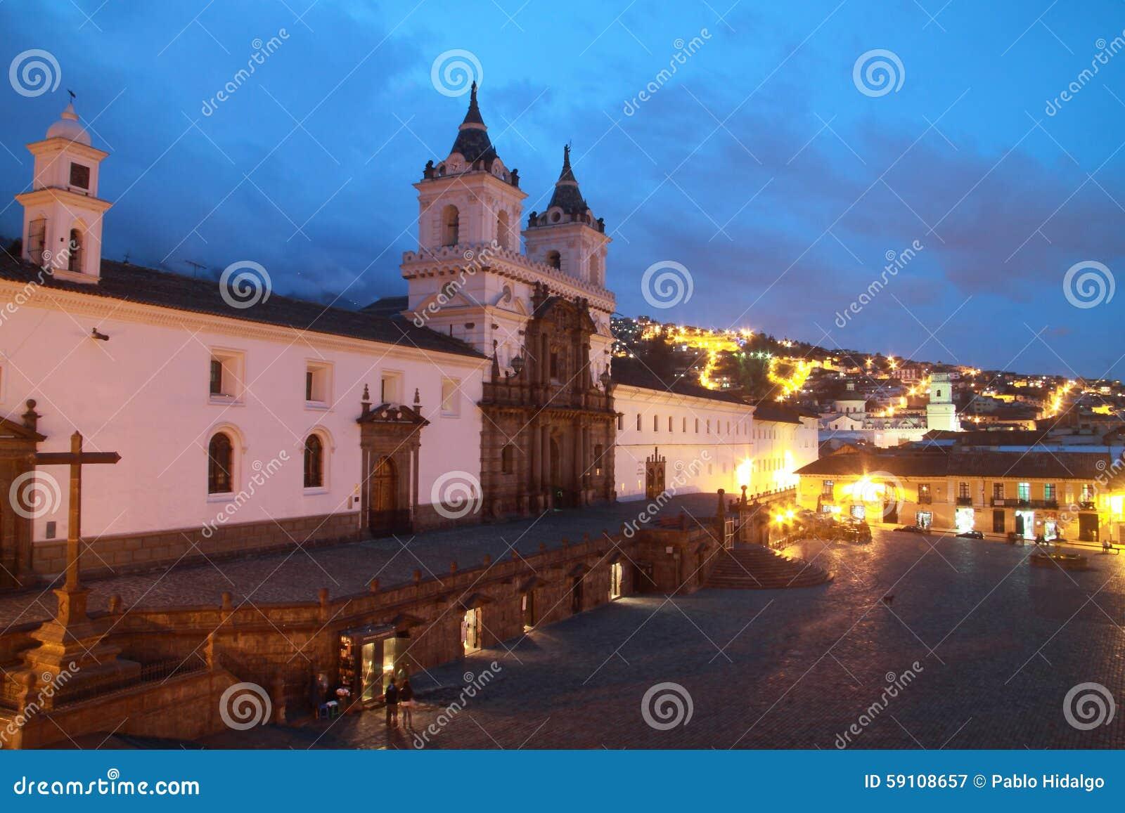 旧金山教会和广场在基多,厄瓜多尔