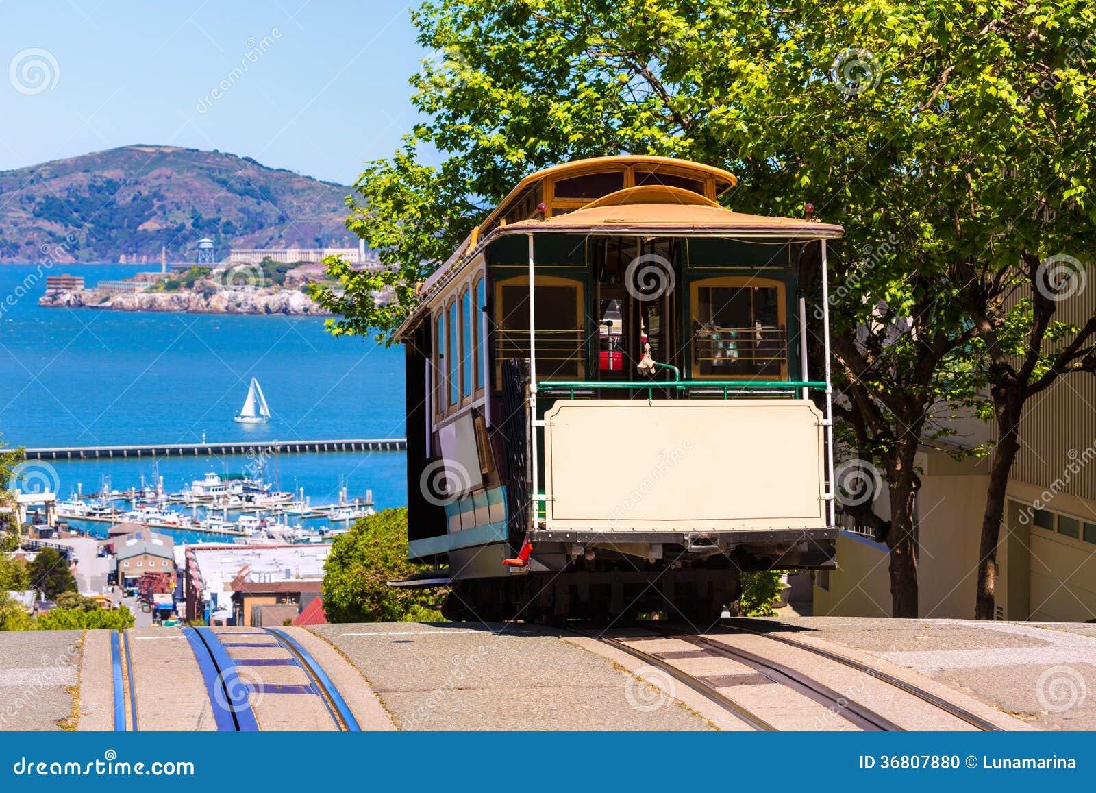 旧金山海德街缆车加利福尼亚
