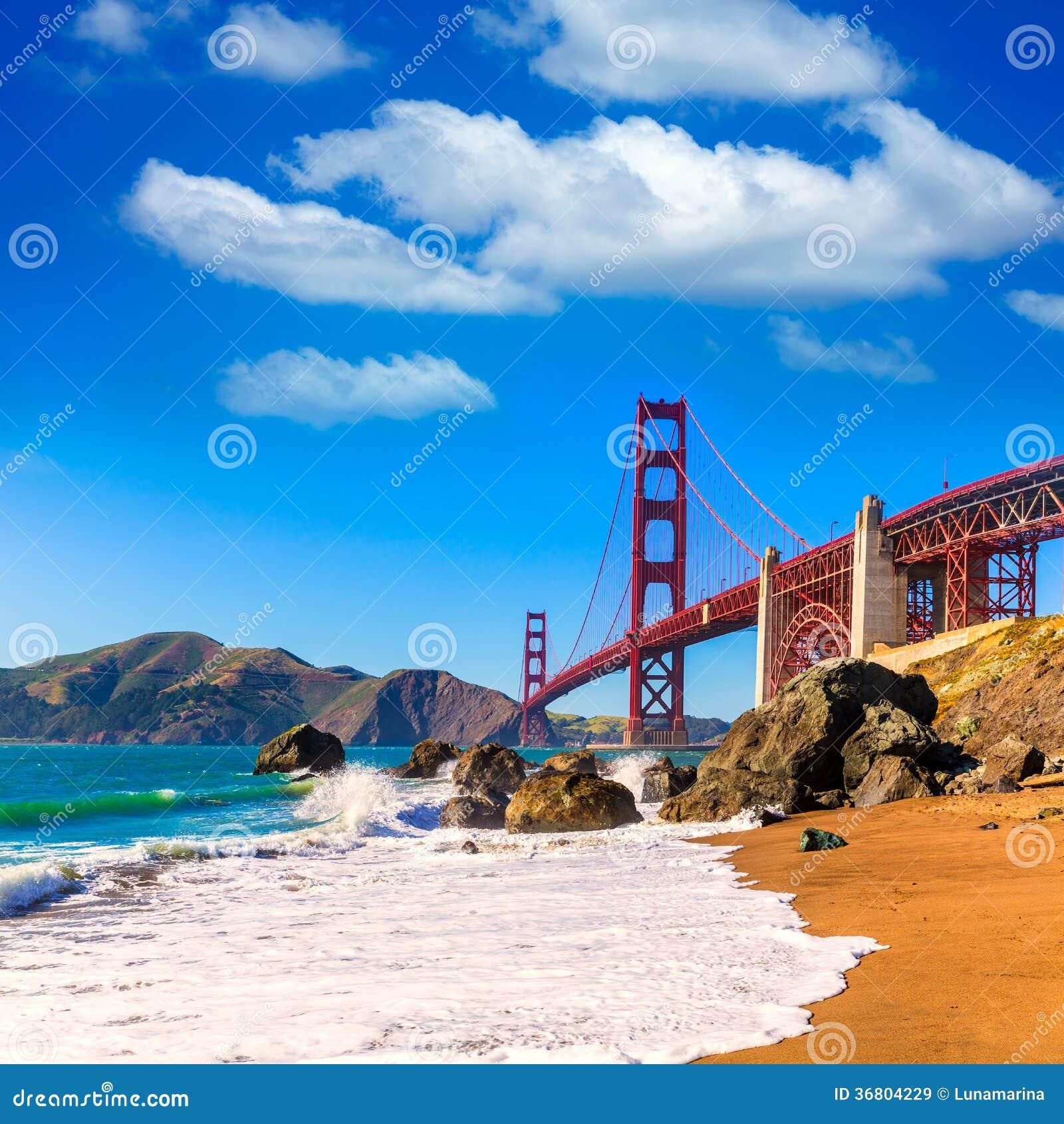 旧金山金门大桥马歇尔海滩加利福尼亚