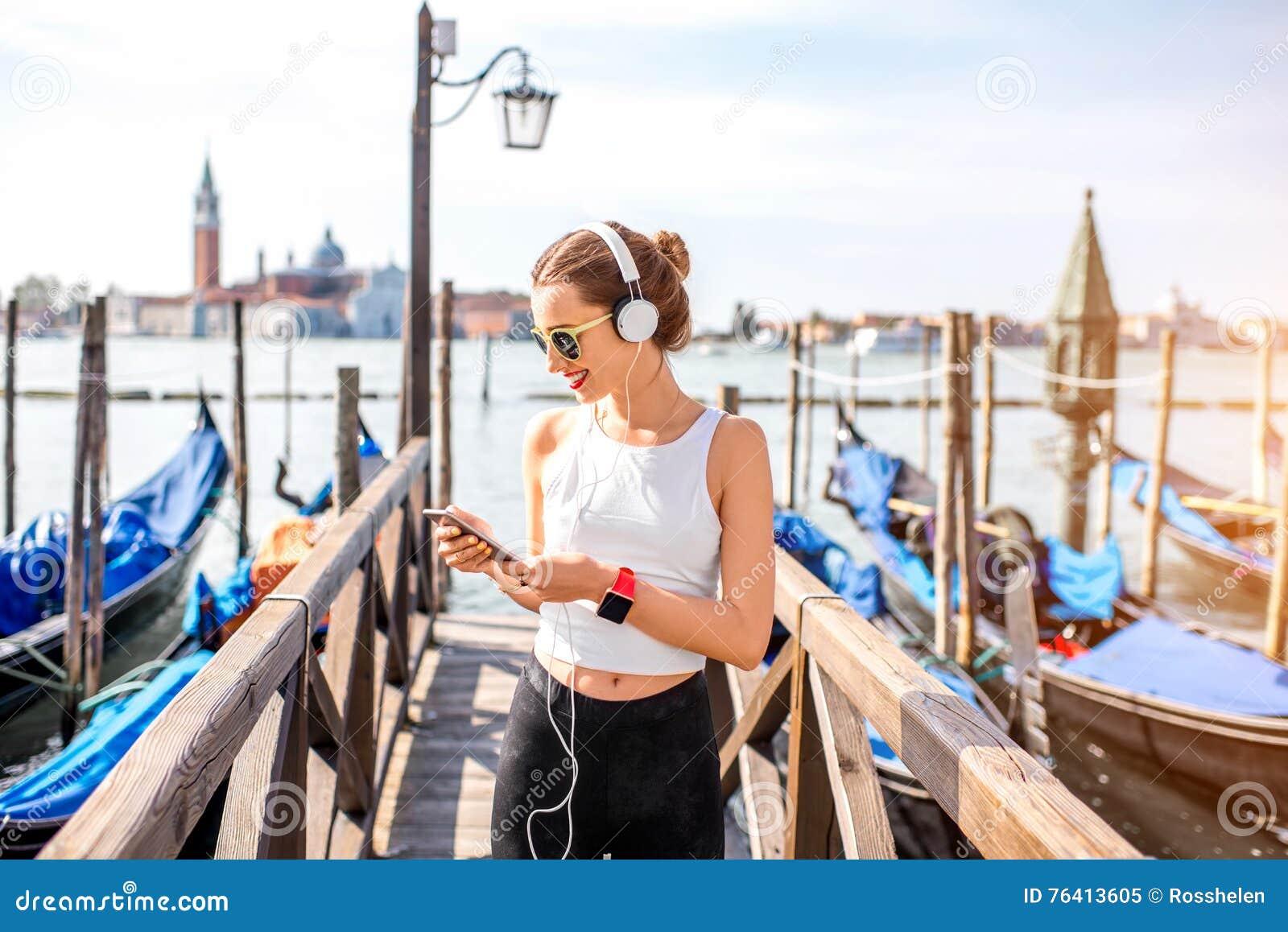 早晨锻炼在威尼斯