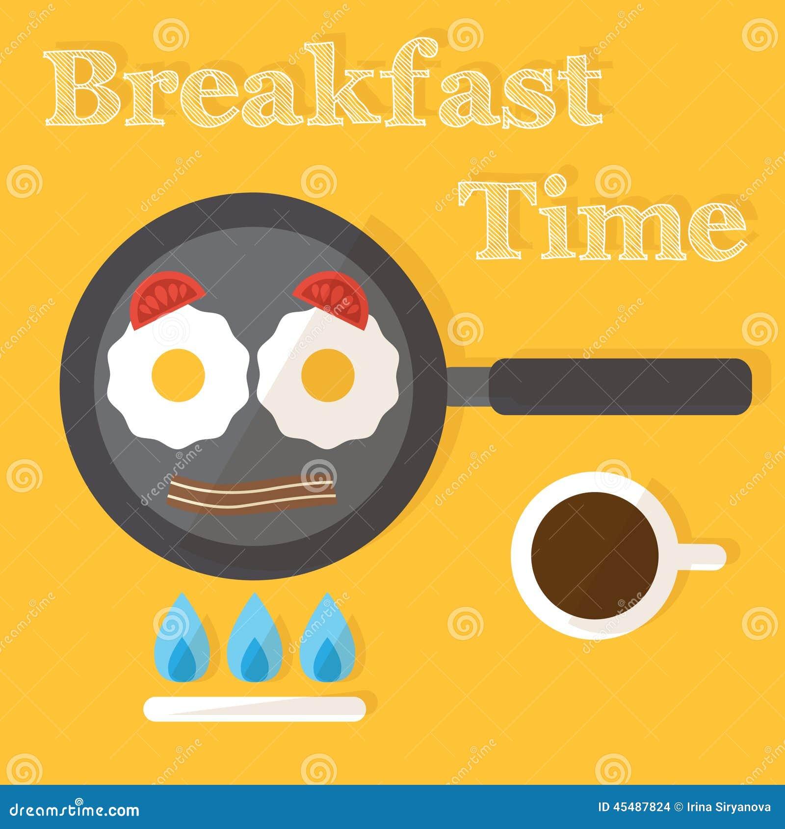 早餐时间 煎蛋制造过程,