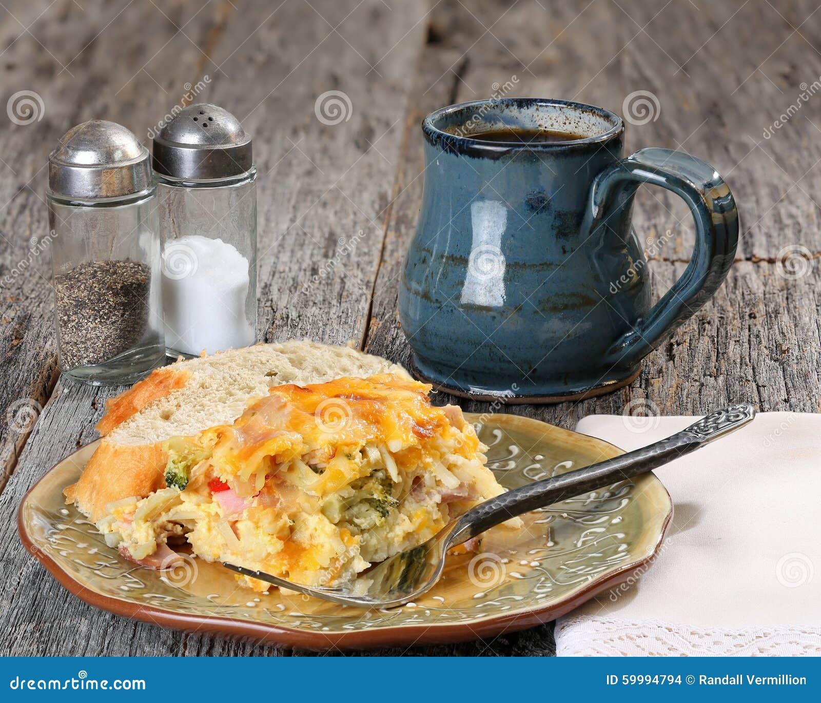 早餐砂锅用咖啡