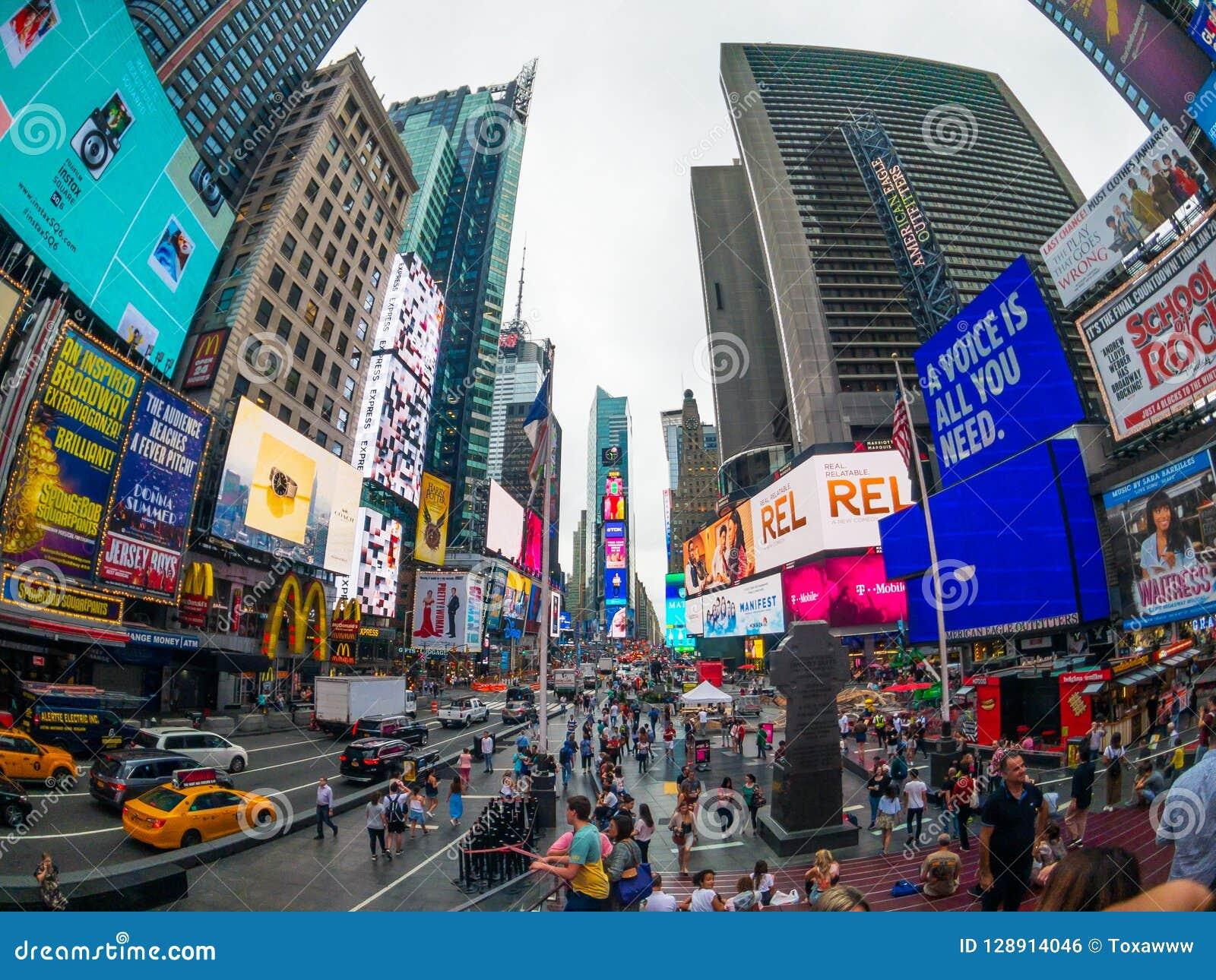 时代广场天时间都市风景