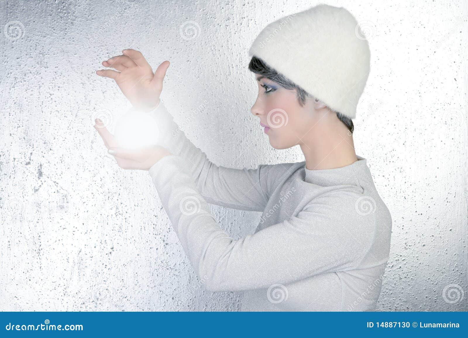 时运未来派玻璃轻的范围出纳员妇女