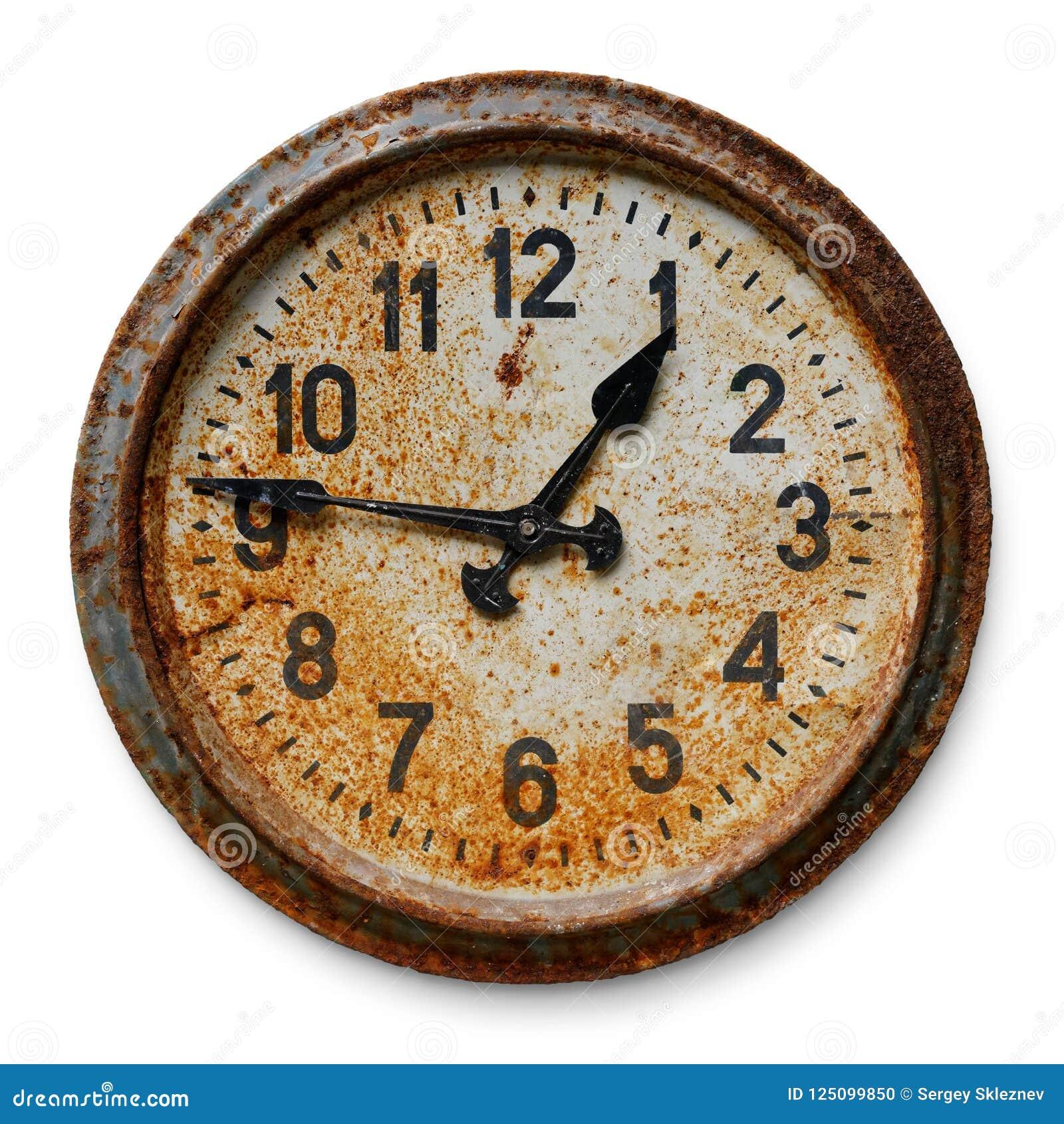 时钟老墙壁