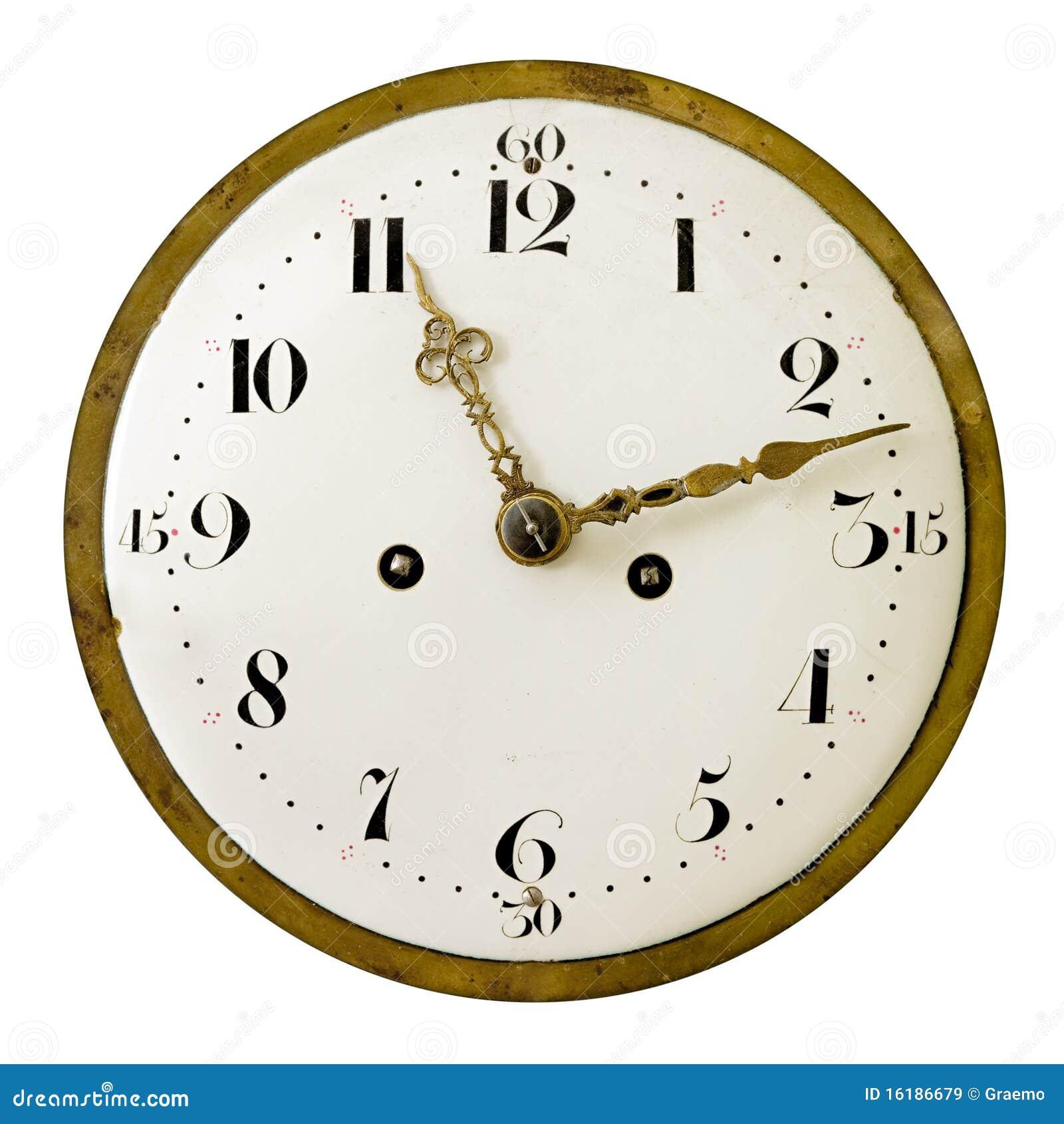时钟表盘葡萄酒