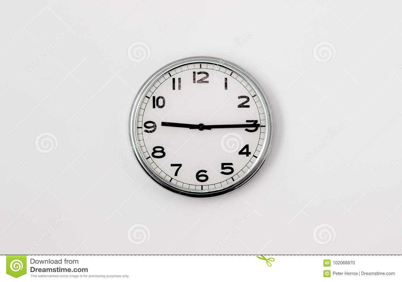时钟9:15