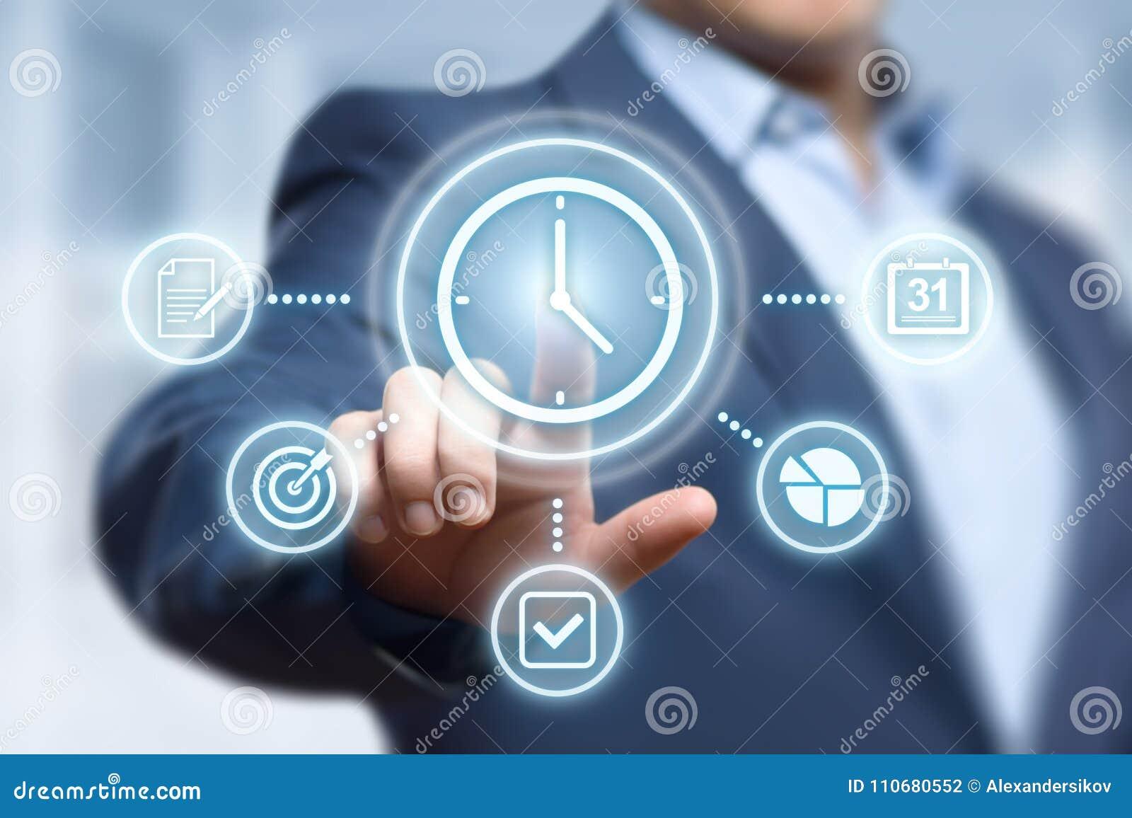时间安排项目效率战略目标企业技术互联网概念