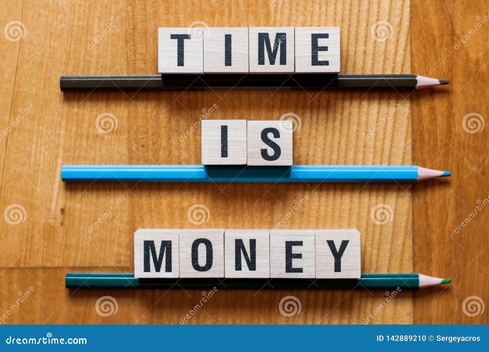 时间是金钱词概念