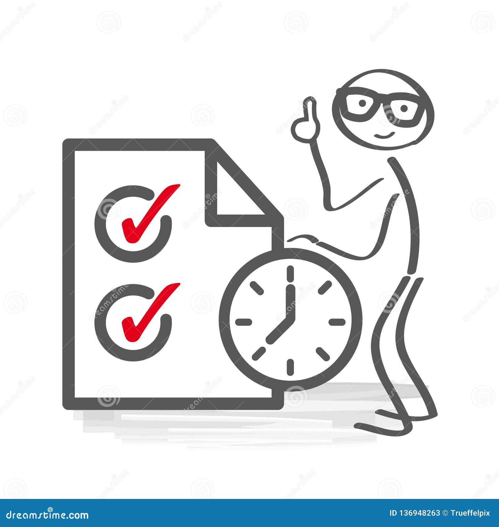 时间管理和日程表传染媒介例证