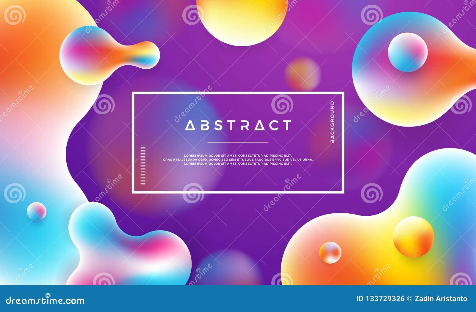 时髦液体颜色背景 背景现代紫色 现代摘要动态液体设计海报