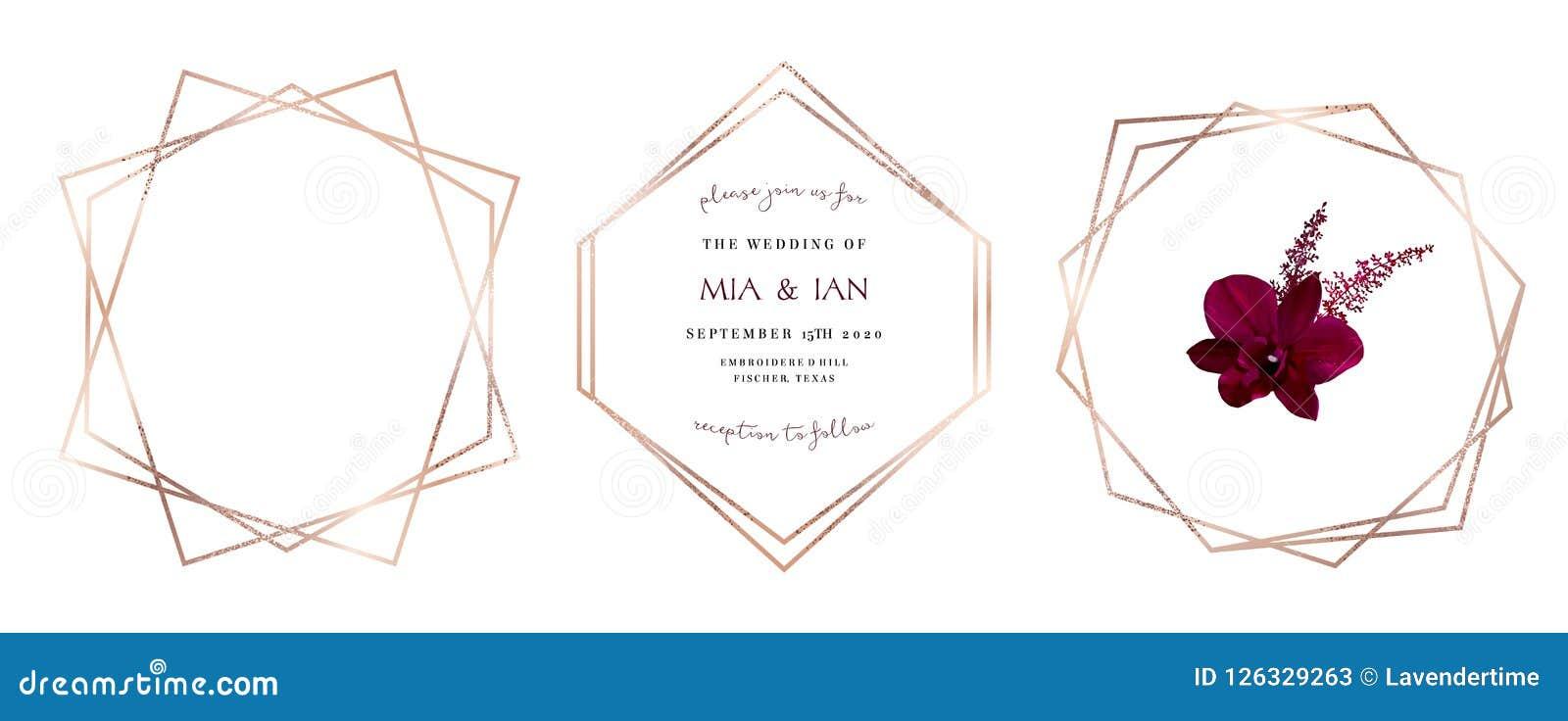 时髦的桃红色闪烁金子几何传染媒介设计框架