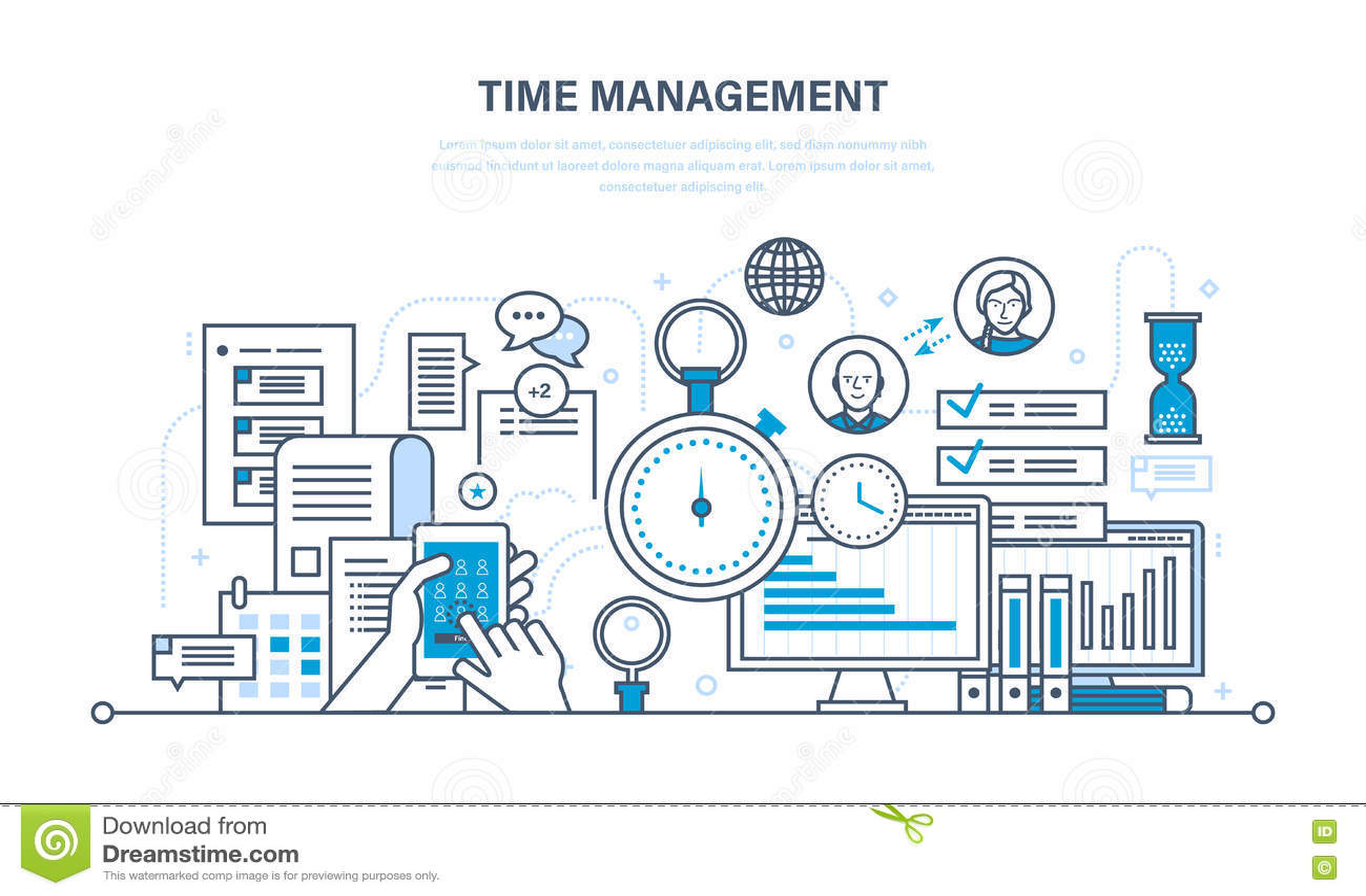 时间安排,计划,工作的组织,工作程序控制