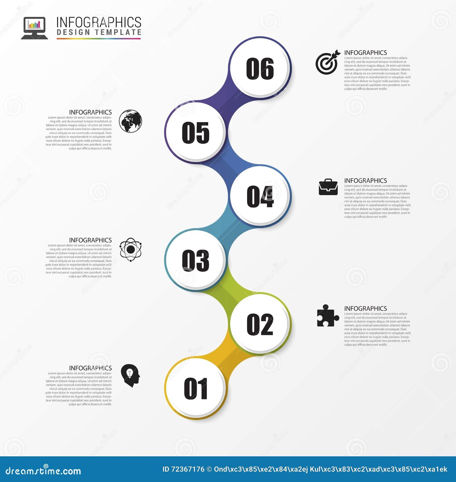 时间安排Infographic 设计现代模板 向量