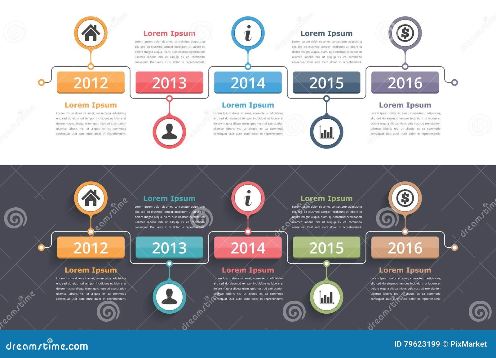 时间安排Infographics