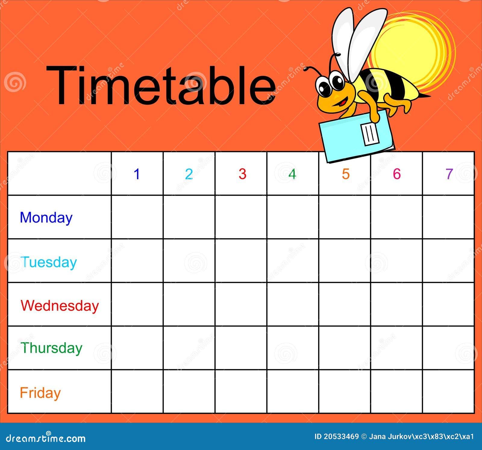 时间表大图
