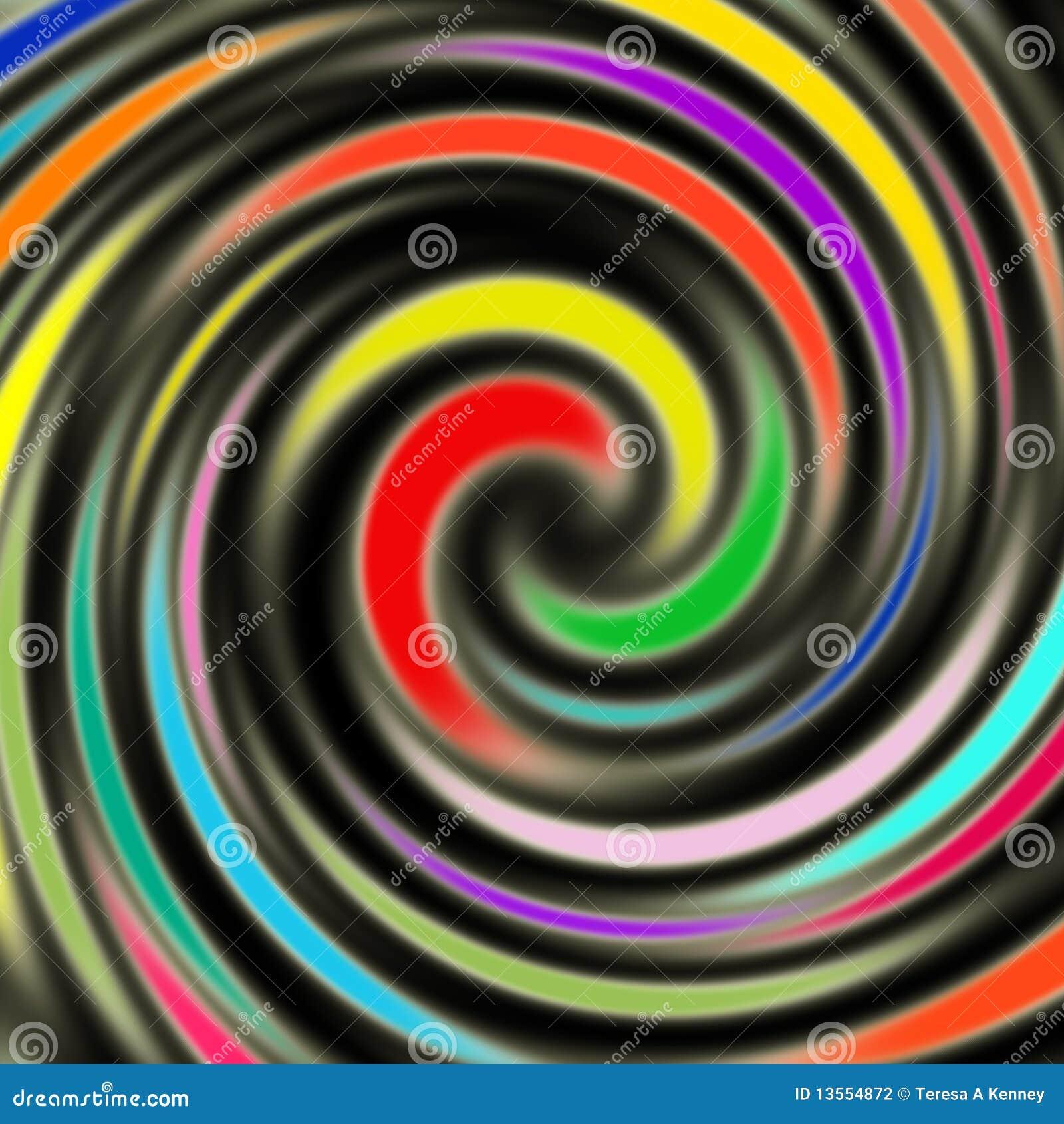 明亮的五颜六色的漩涡
