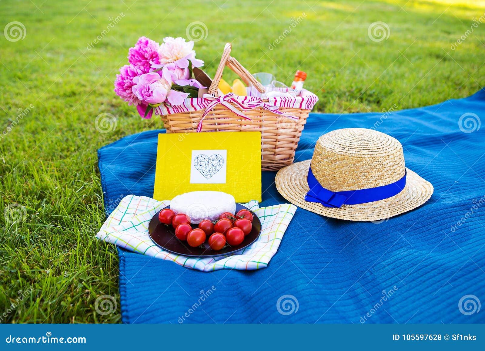 明亮的夏天野餐